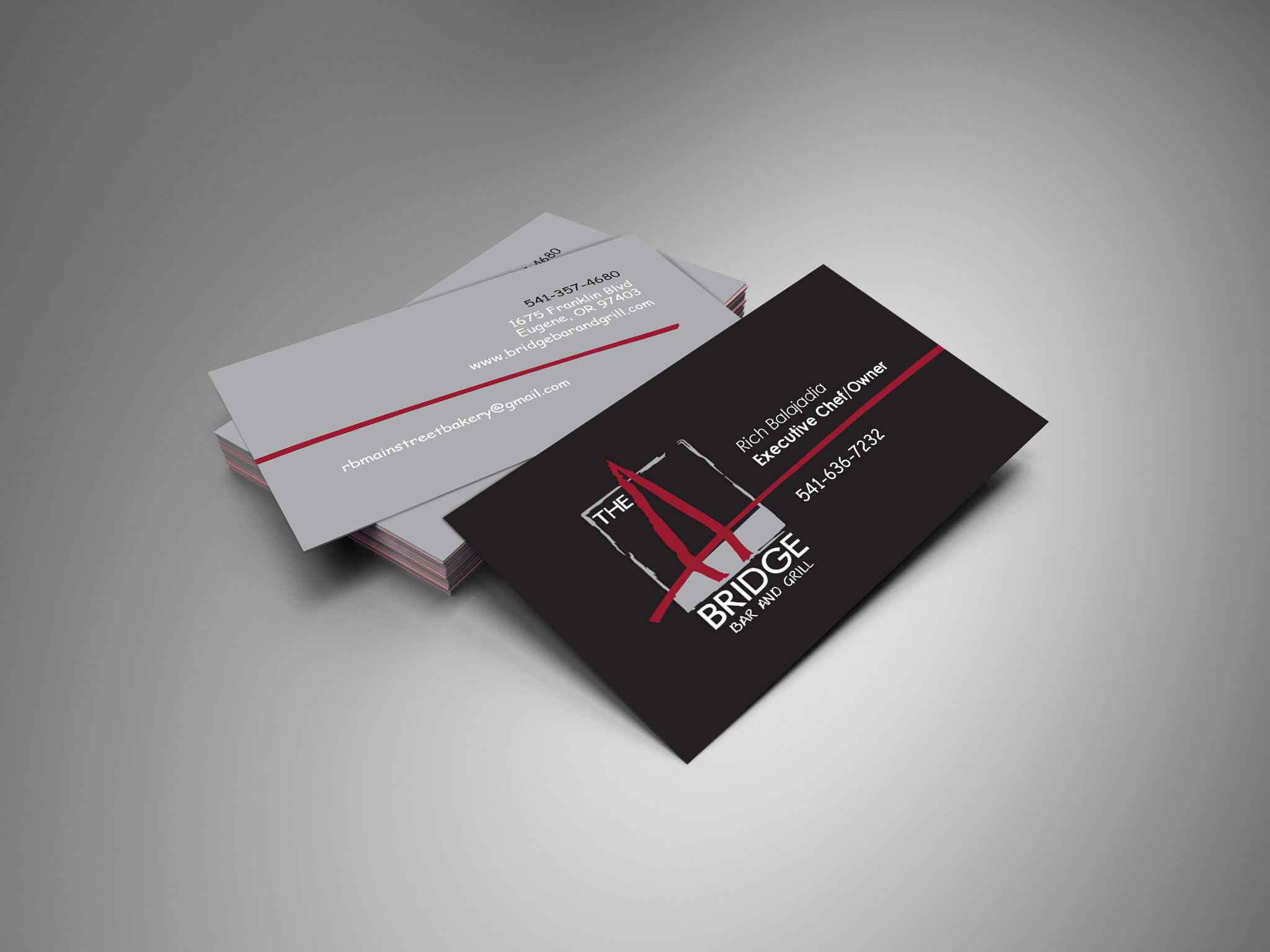 Cameron company were all things marketing business card for the bridge restaurant reheart Images